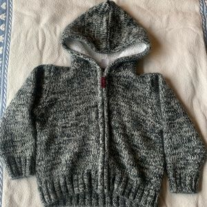 Carters knit sweater with fleece lining.